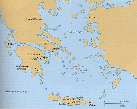 Brian wildemans art history lab aegean map of the aegean region sciox Images