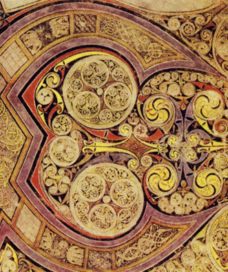 E Book Of Kells reconstructive linear perspective drawing of the Sanctuary of ...