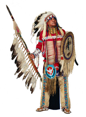 This was the typical Native American spirtual attire for a man in the ...