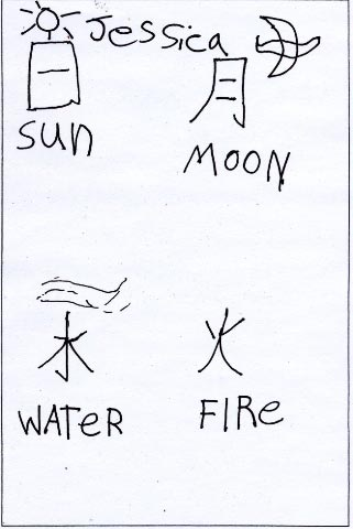 How to write moon in chinese